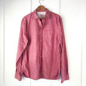BROOKS BROTHERS Red Fleece Linen Cotton Shirt XL